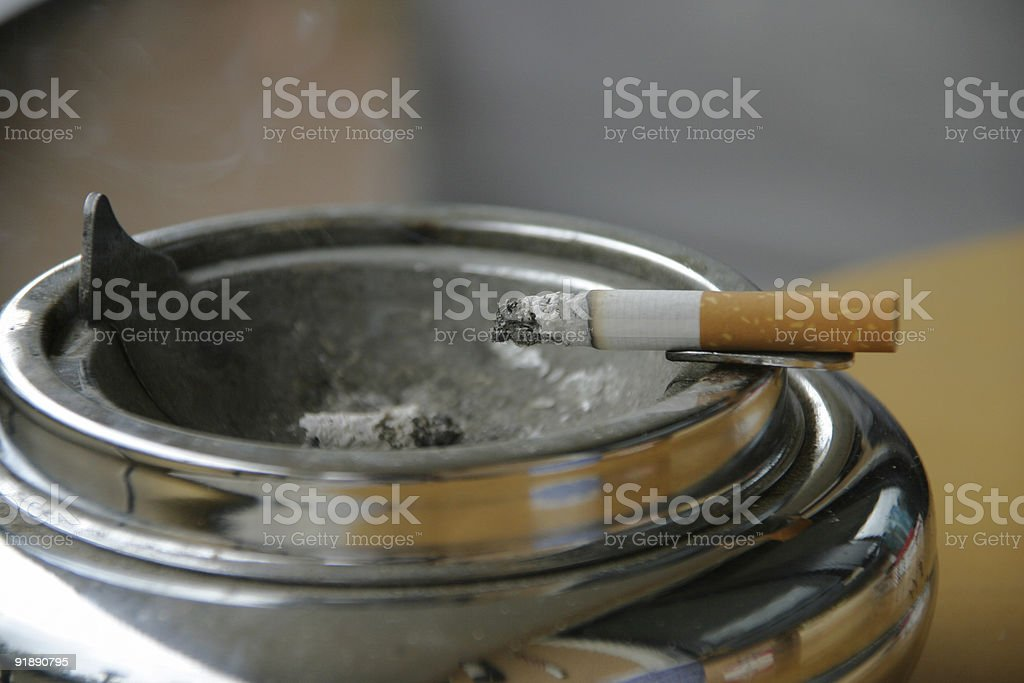 The last cigarette royalty-free stock photo