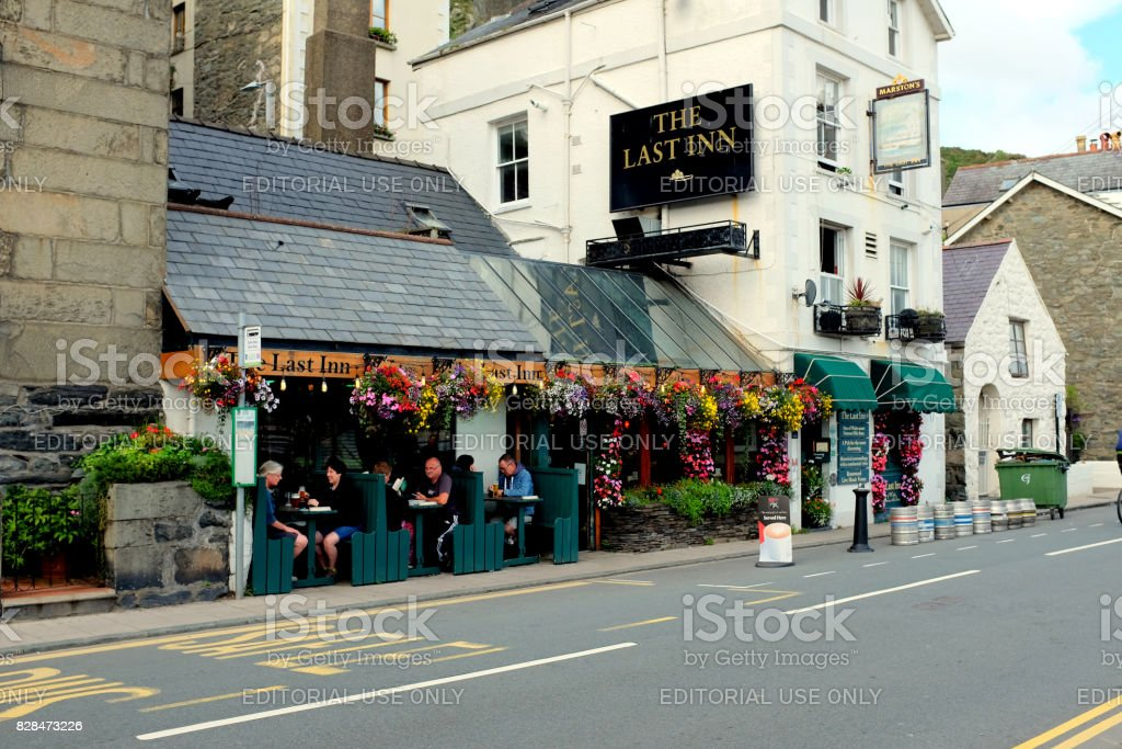 The last Inn, Barmouth, Wales. stock photo