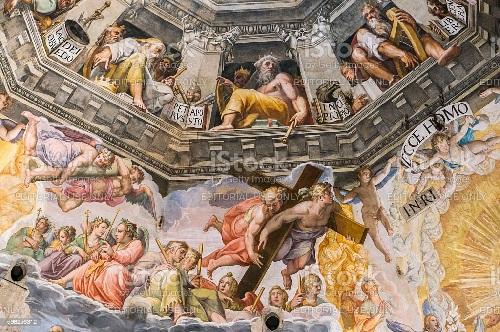 The Last Judgement by Giorgio Vasari stock photo