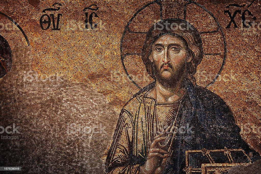 The Last Judgement Mosaic Hagia Sophia stock photo
