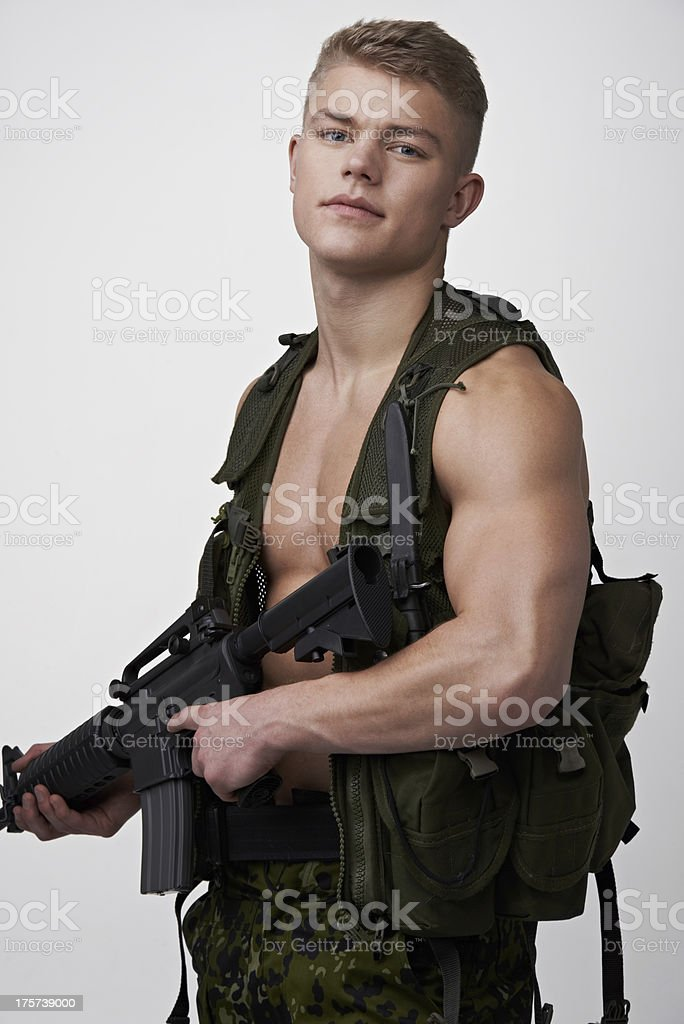 The last line of defense royalty-free stock photo