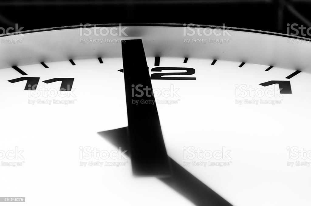 The last minute to five o'clock stock photo