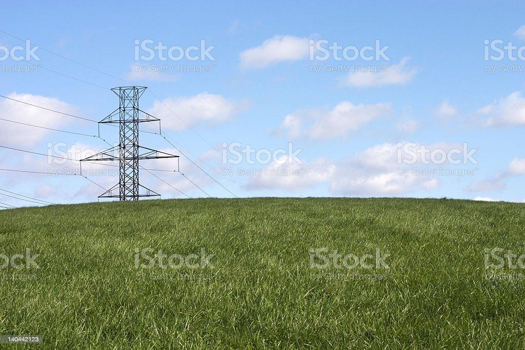 the last powerline royalty-free stock photo