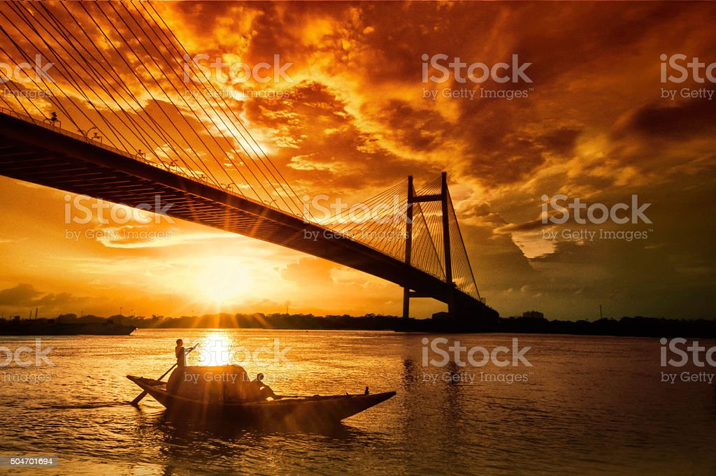 The last Sailor's Sunset stock photo