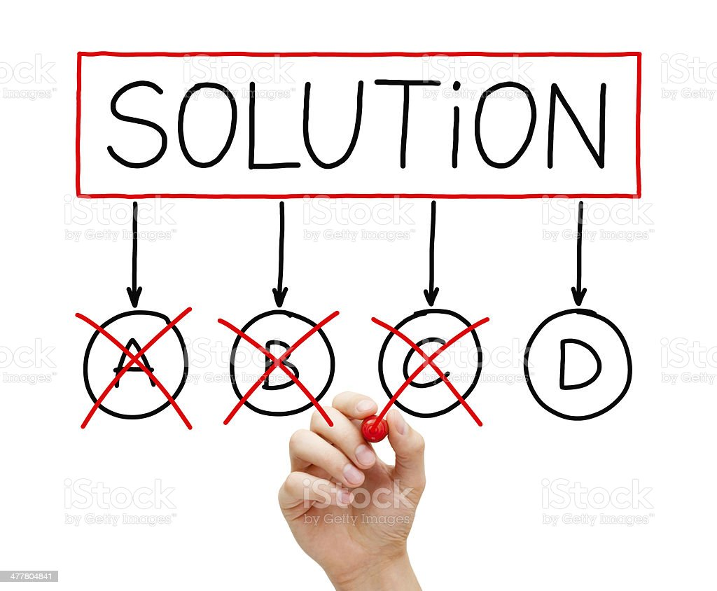 The Last Solution Option royalty-free stock photo