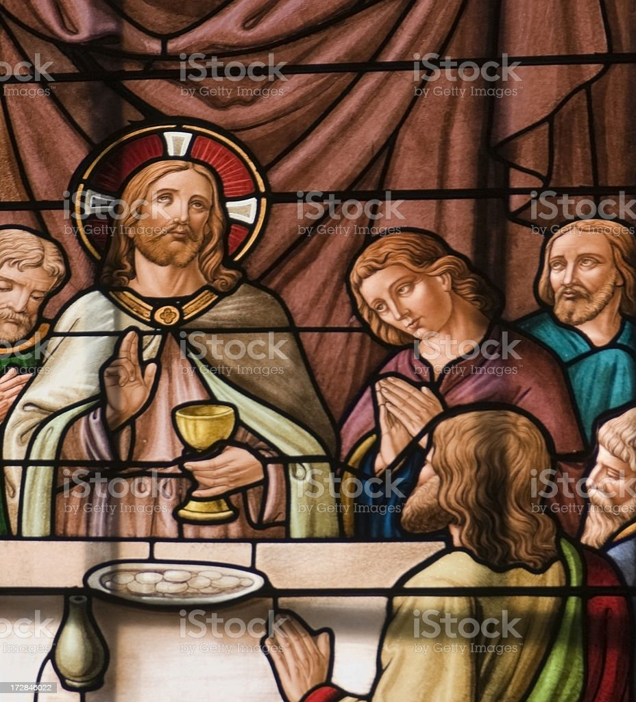 The last supper royalty-free stock photo