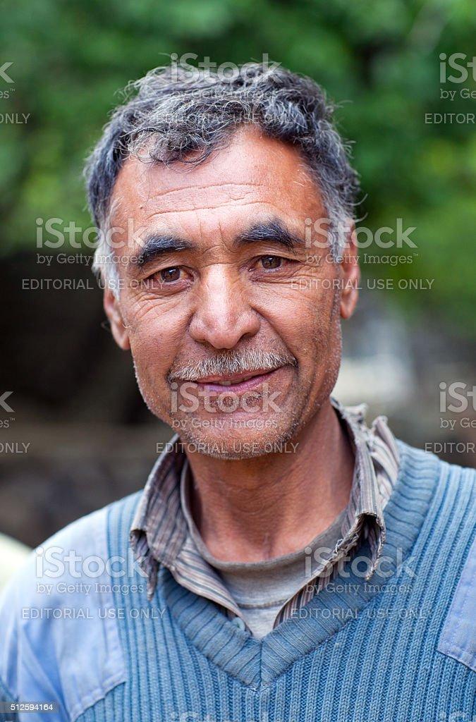 The Last Turtuk King, Yagbo Modh Khan Kacho, Ladakh, India stock photo