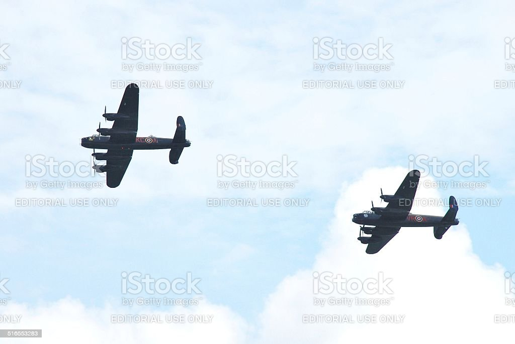 The last two Lancasters stock photo