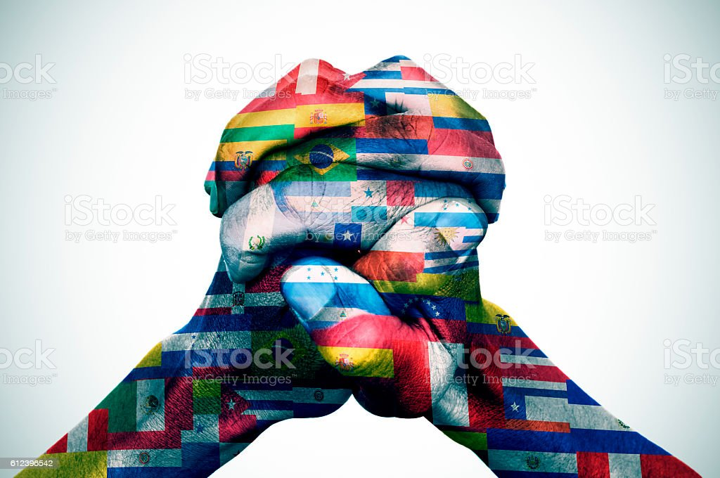 the Latin American countries stock photo