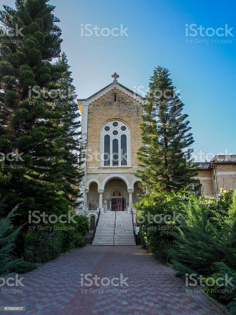 The Latrun Monastery in Israel stock photo