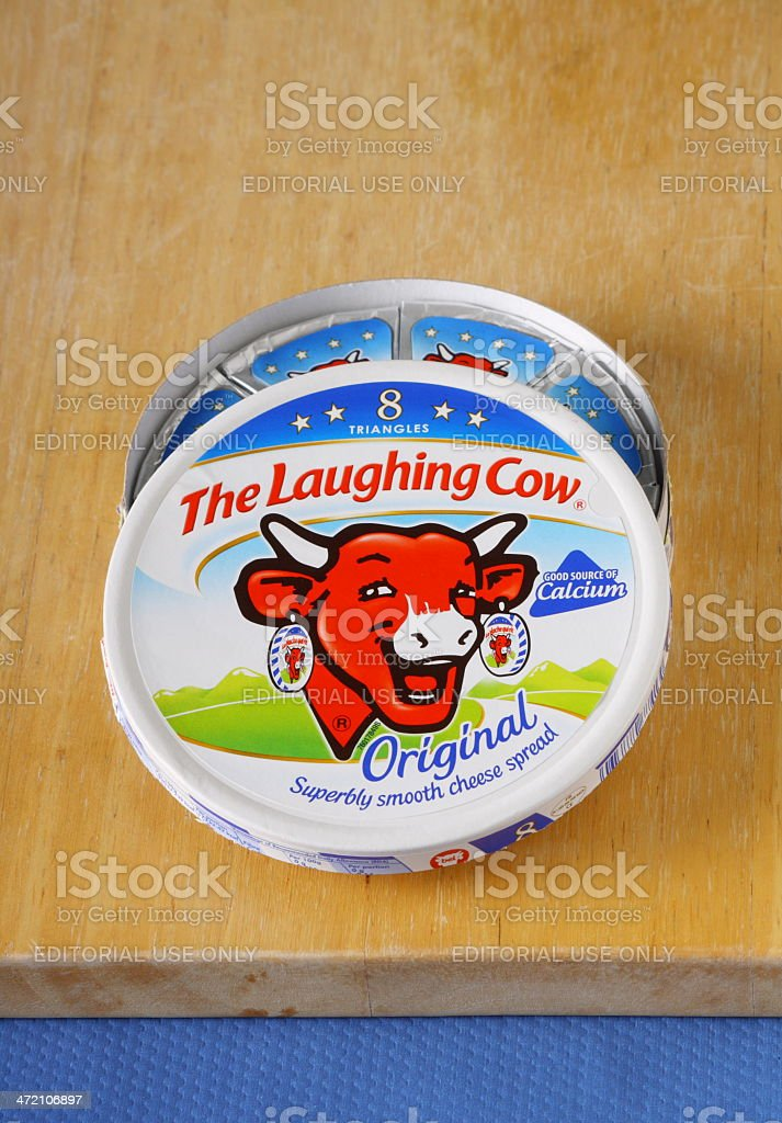 The Laughing Cow Cheese Spread royalty-free stock photo