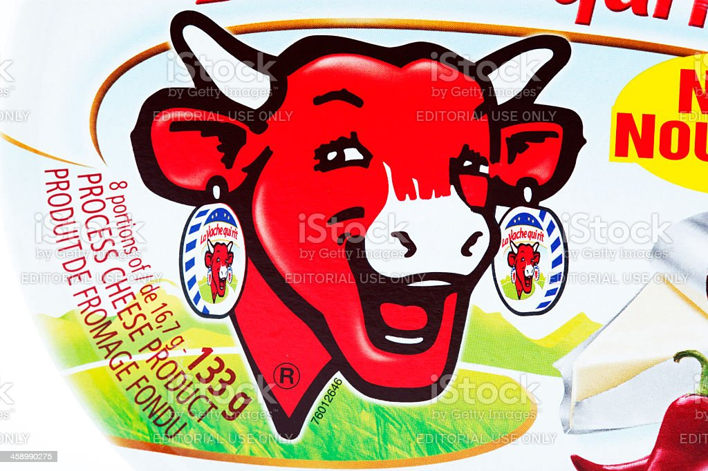 The Laughing Cow stock photo