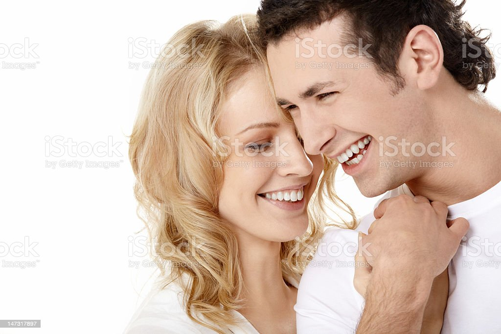 The laughing enamoured royalty-free stock photo