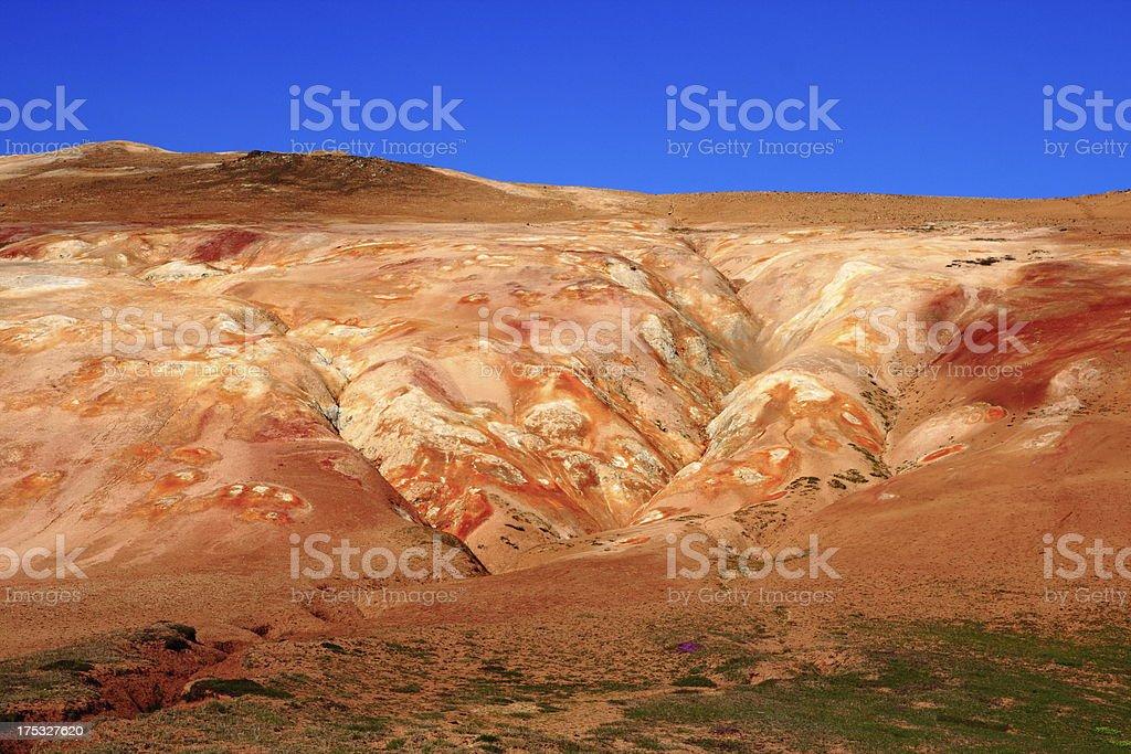 The lava field of Leirhnjukur royalty-free stock photo