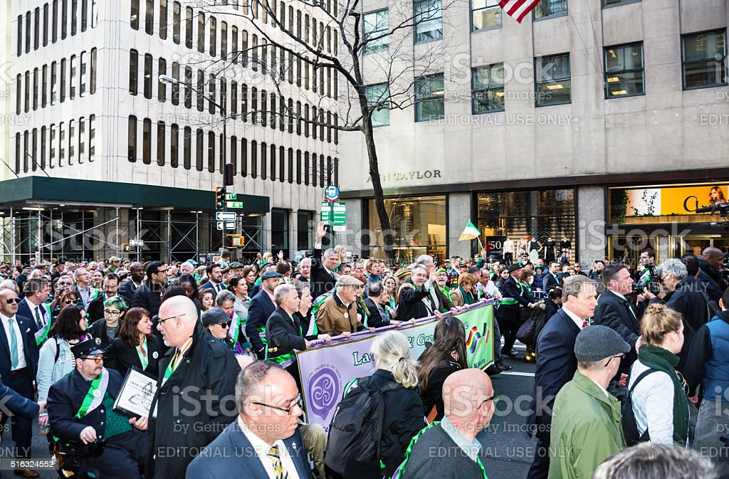The Lavender and Green Alliance March stock photo