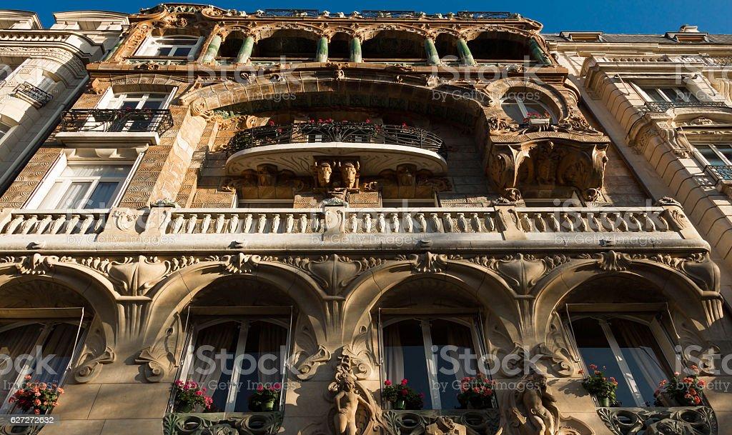 The Lavirotte building , Paris, France. stock photo