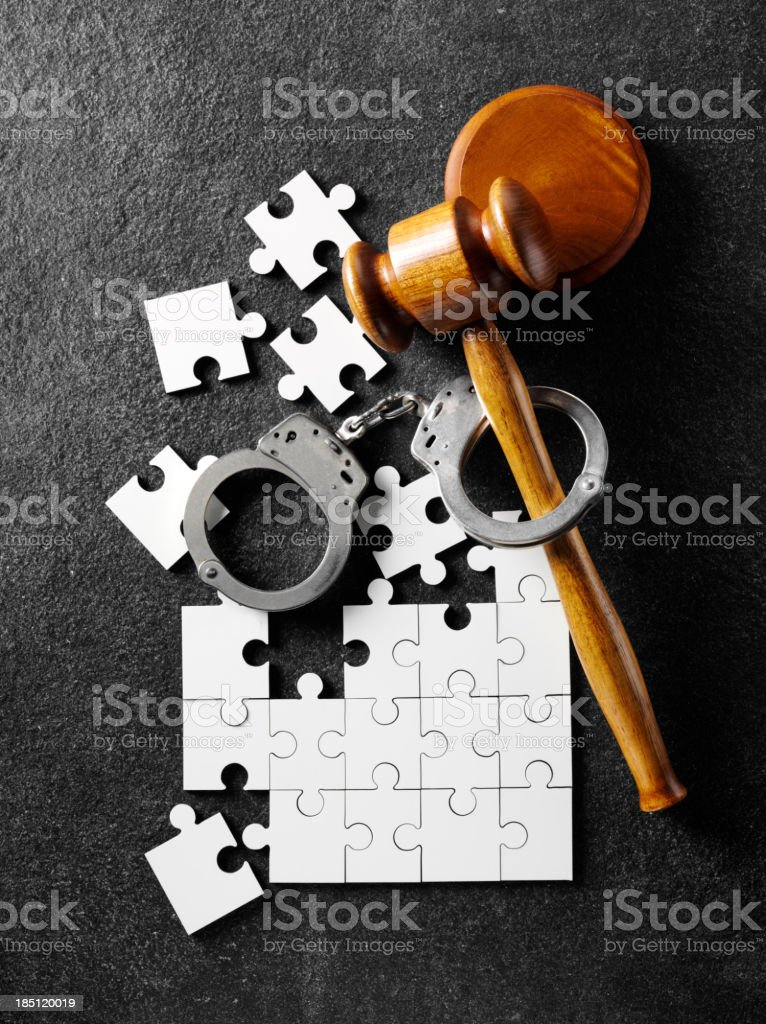 The Law and a Broken Jigsaw Puzzle royalty-free stock photo