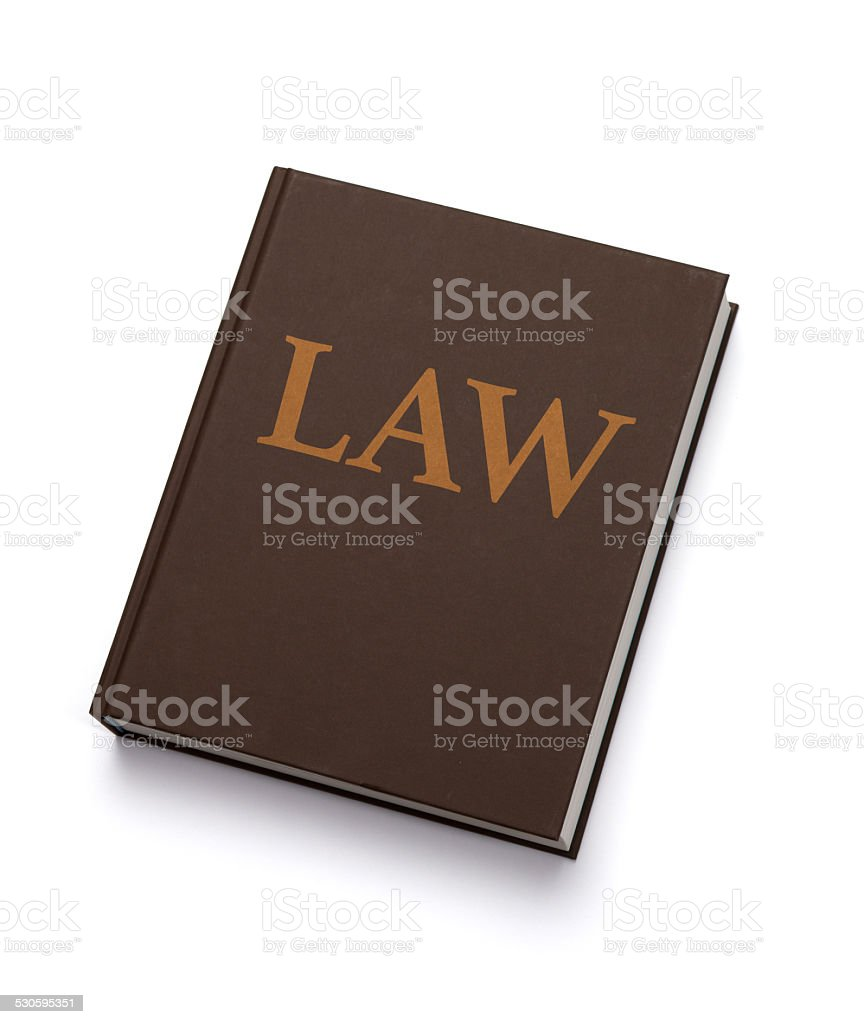 The Law Book stock photo