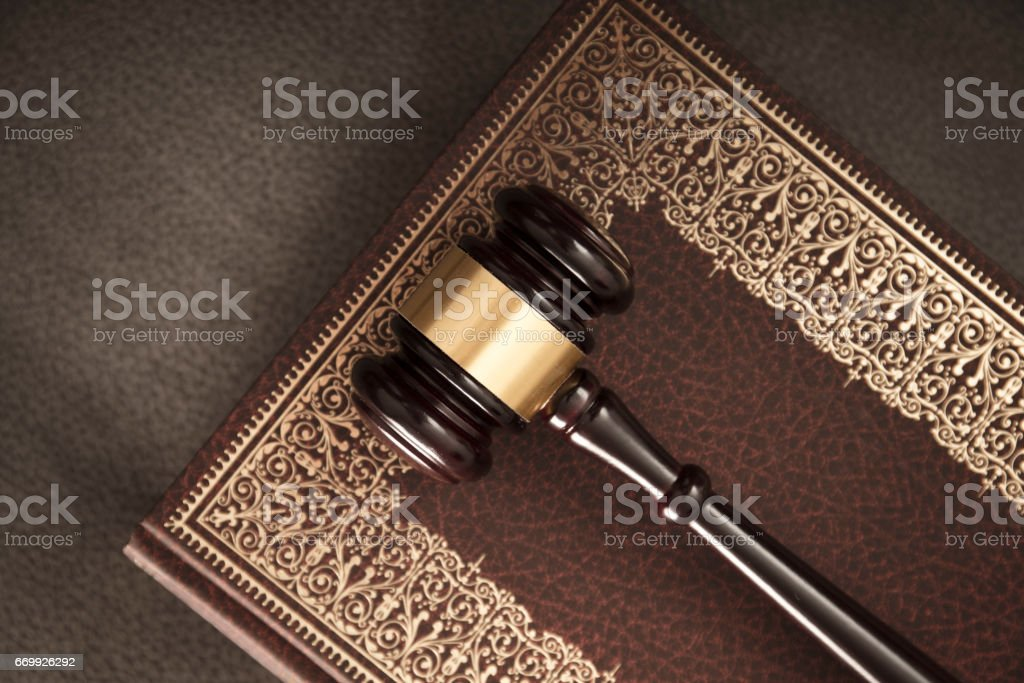 The law. Lawyers theme stock photo