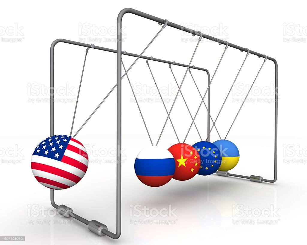 The law of retroactivity of sanctions in geopolitics. The concept stock photo