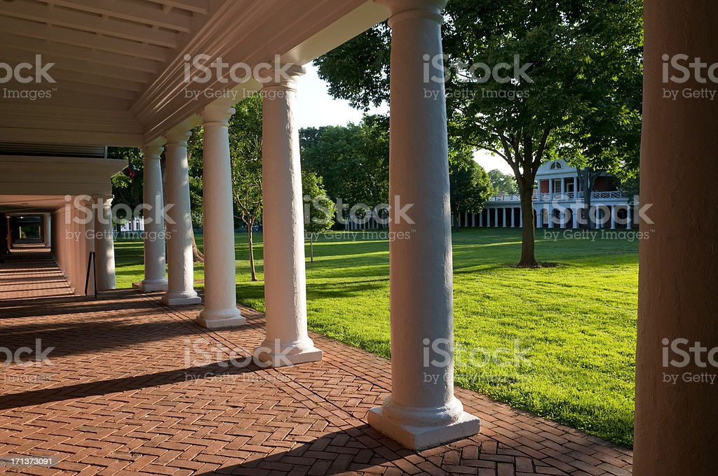 The Lawn at University of Virginia stock photo