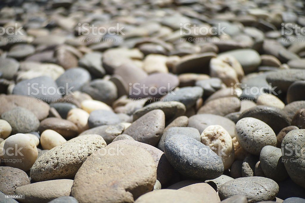 The layer of stones. stock photo