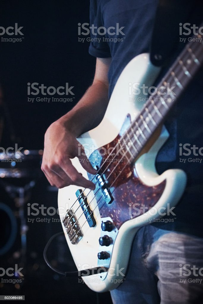 The lead guitarist stock photo