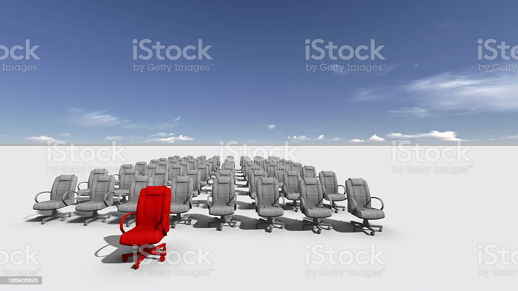 The Leader royalty-free stock photo