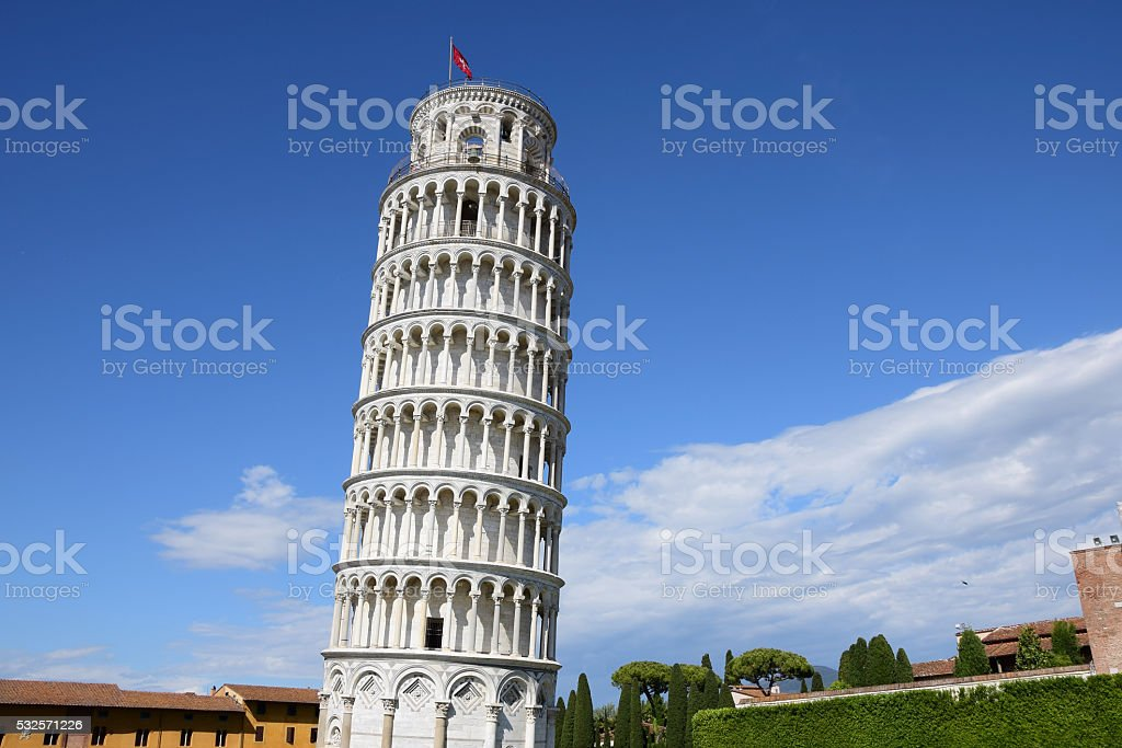 The Leaning Tower of Pisa stock photo