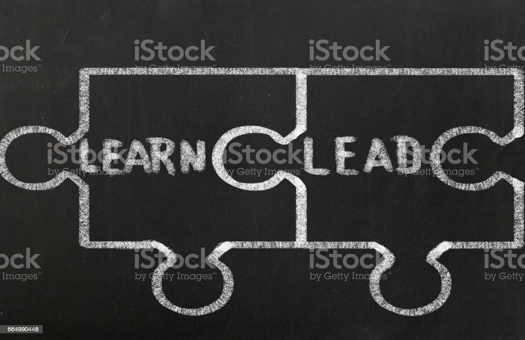 The learn and the lead stock photo