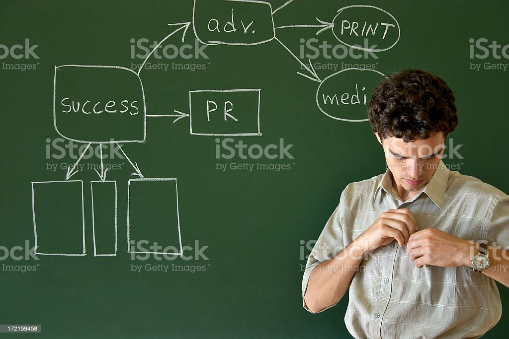 The lecture is over royalty-free stock photo