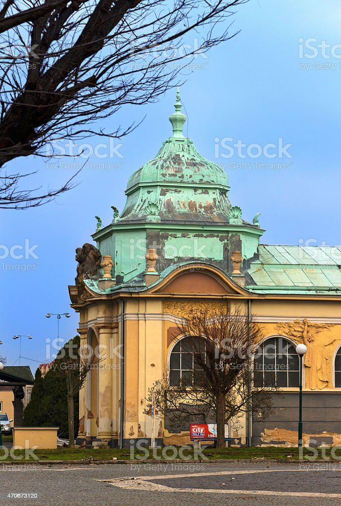 The left side Lapidary of the National Museum in Prague stock photo