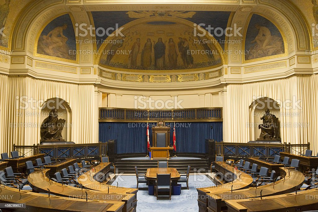 The Legislative Chamber of Manitoba Parliment Building royalty-free stock photo