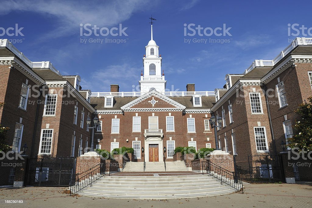 The Legislative Hall of Delaware stock photo