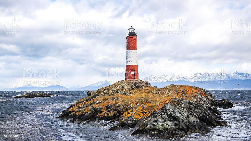 The Les Eclaireurs lighthouse stock photo