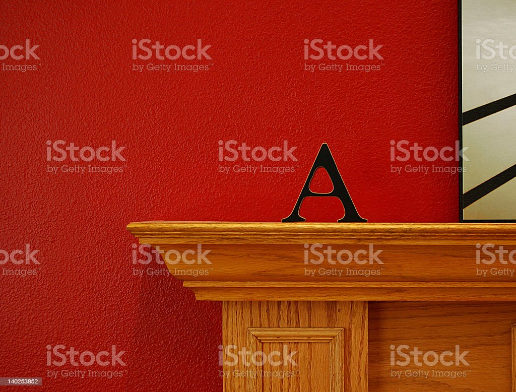 The Letter A on Mantle royalty-free stock photo