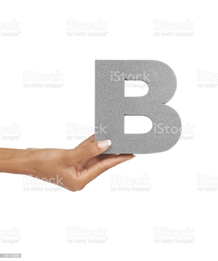 The letter 'B' royalty-free stock photo