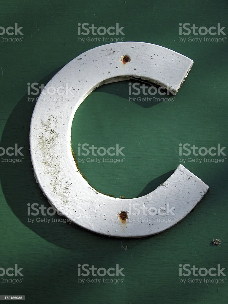 The letter 'C' stock photo