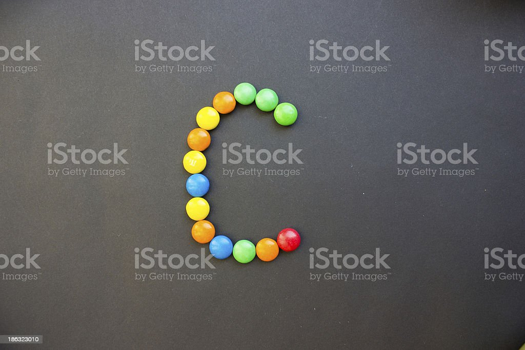 The Letter C royalty-free stock photo