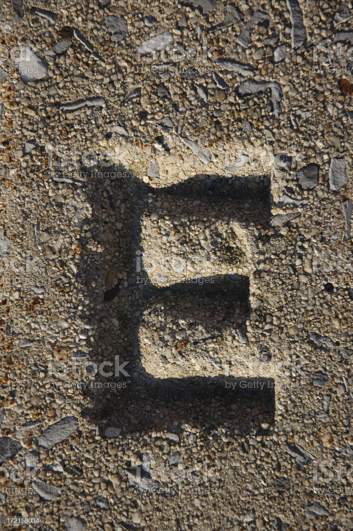 The Letter E royalty-free stock photo