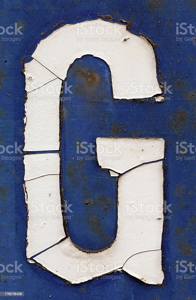The letter 'G' royalty-free stock photo