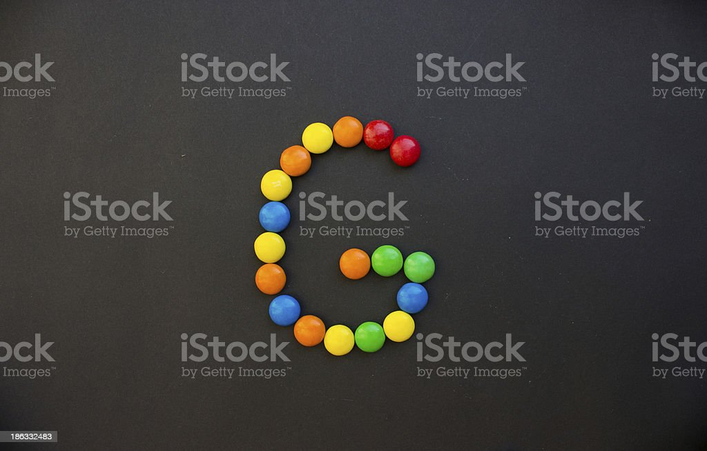 The Letter G stock photo