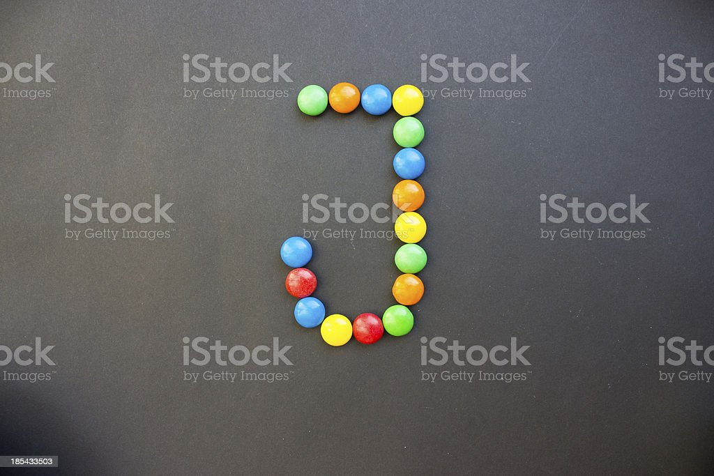 The Letter J royalty-free stock photo