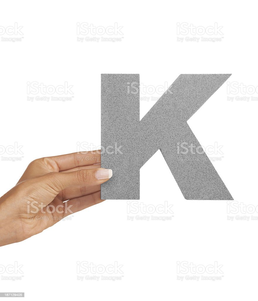 The letter 'K' royalty-free stock photo