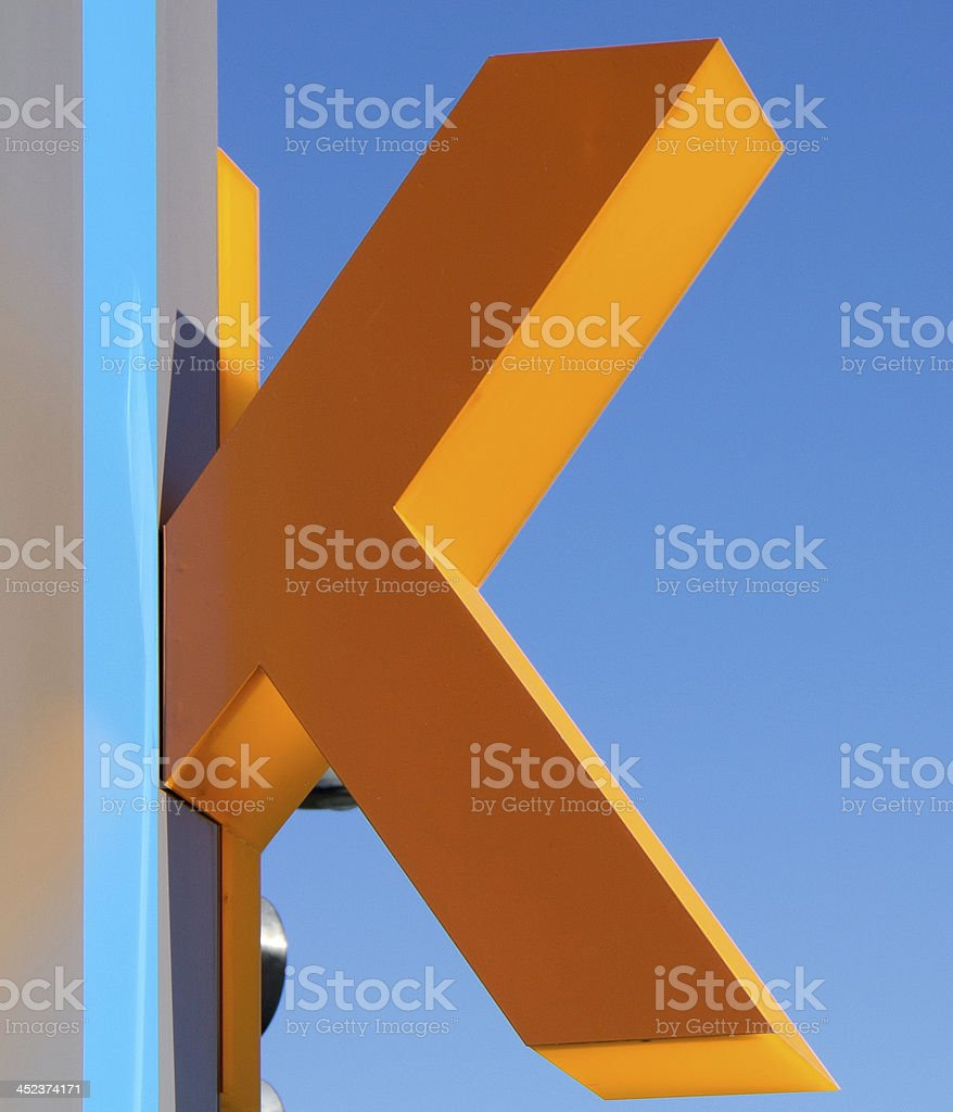 The letter K stock photo