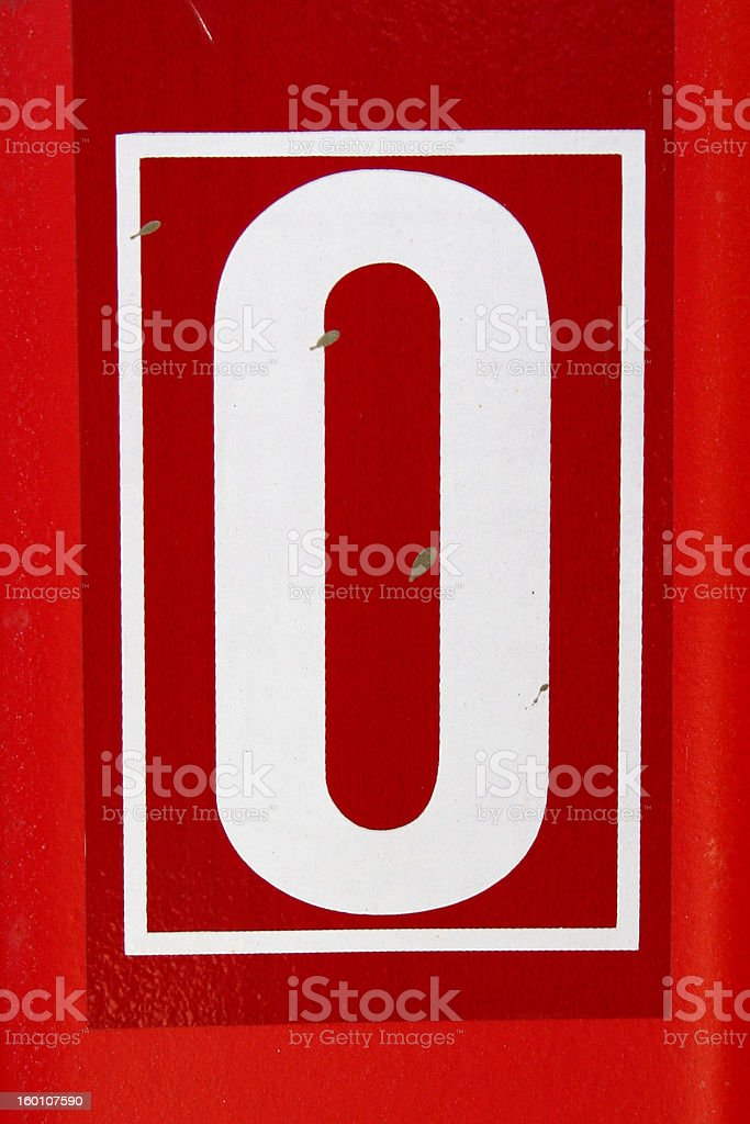 The letter O or number 0 stock photo
