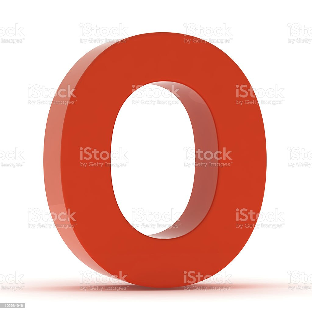 The Letter O - Red Plastic stock photo