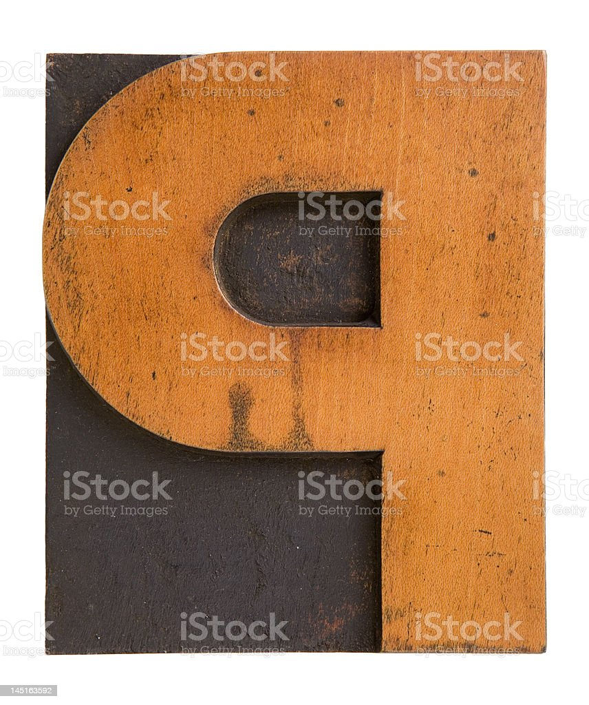 The letter P royalty-free stock photo