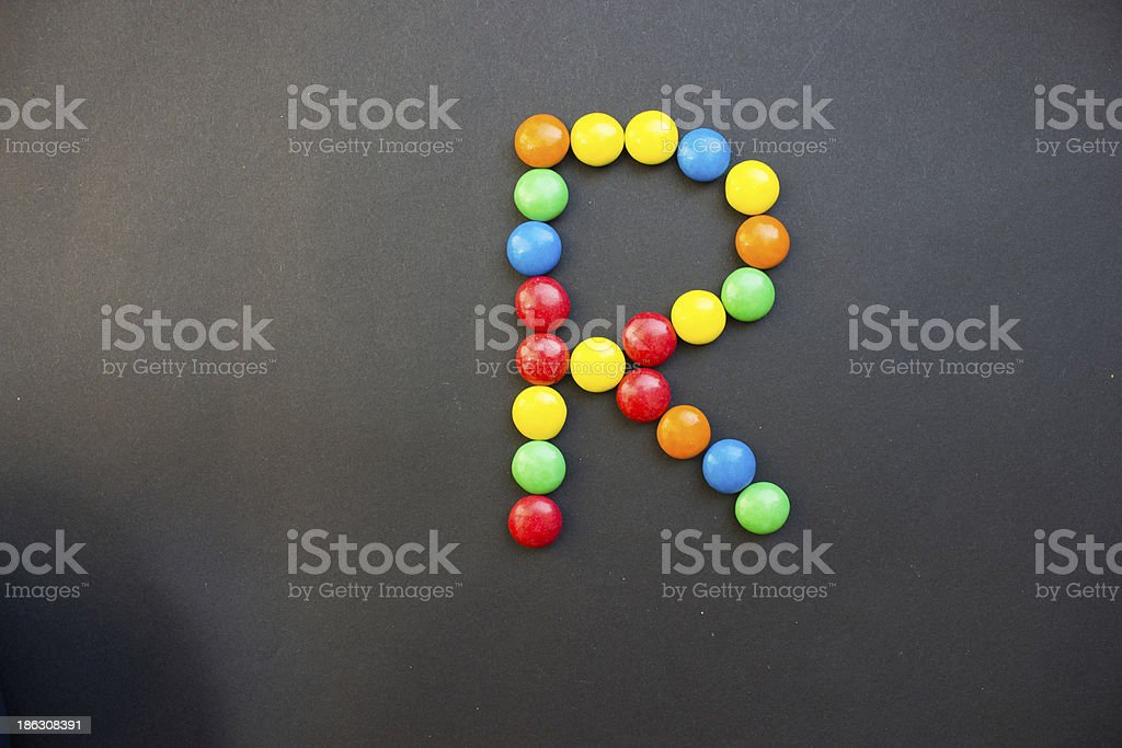 The Letter R royalty-free stock photo