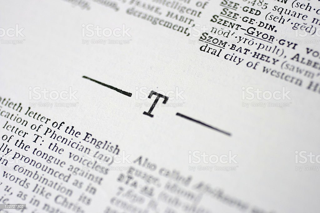 The Letter T royalty-free stock photo